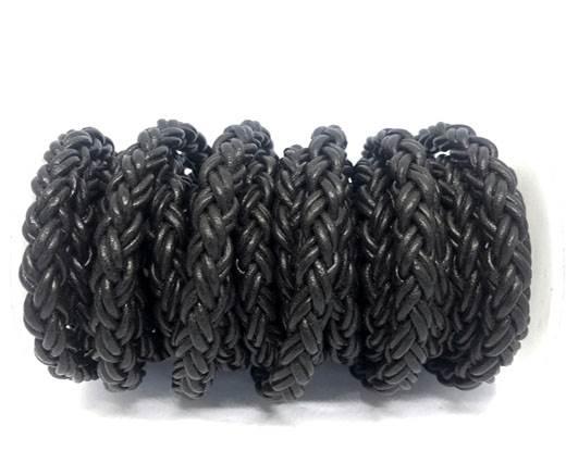 Round Bolo Twist Leather Cord-8mm-Dark Brown