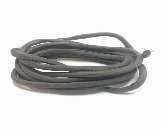 Real silk cords with inserts - 4 mm - Dark Grey