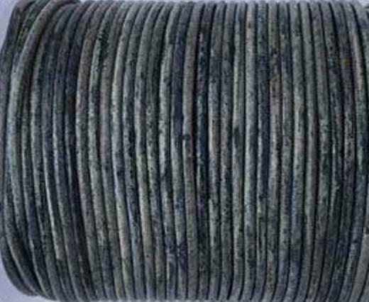 Round Leather Cord -1mm-  Vintage Dark Blue(040)