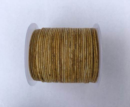 Buy Round leather cord-2mm- Vintage Hazelnut(028) at wholesale prices