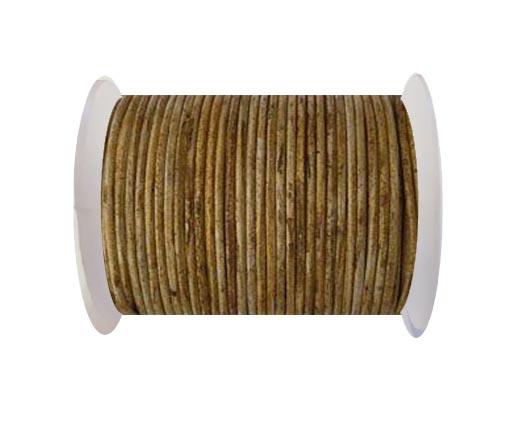 Round Leather Cord-1,5mm- Vintage Hazelnut(028)