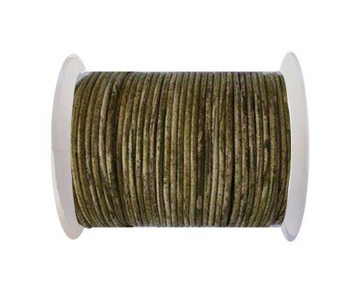 Round leather cord-2mm- Vintage Mehandi(027)