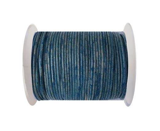 Round leather cord-2mm- Vintage Sky Blue