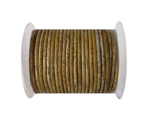 Round leather cord-4mm- Vintage Hazelnut(028)