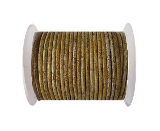 Round leather cord-3mm- Vintage Hazelnut(028)