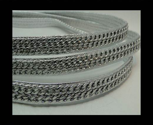 Buy Real Nappa Leather Chain Stitched-10mm-Double-silver1 at wholesale prices