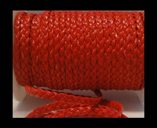 synthetic nappa leather -5mm-Red