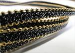 synthetic nappa leather with chains-10mm-dark brown