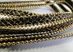 synthetic nappa leather with chains-10mm-grey