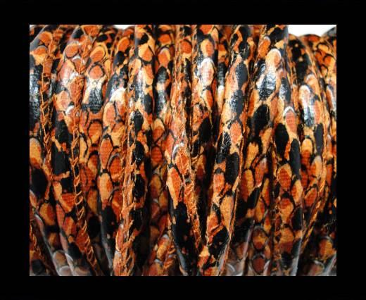 imitation nappa leather 6mm Rattle Snake Style - orange