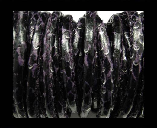 imitation nappa leather 6mm Rattle Snake Style - purple