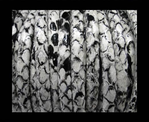 imitation nappa leather 6mm Rattle Snake Style - white