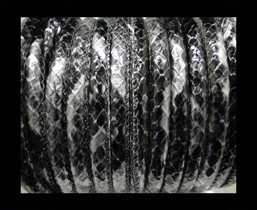 Buy imitation nappa leather 6mm Rattle Snake Style - oblong grey at wholesale prices