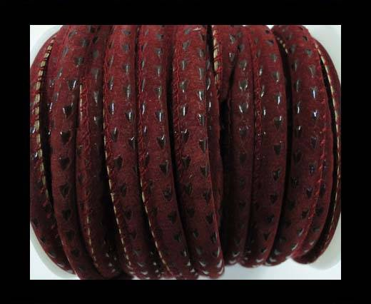 Eco nappa leather Parashute style-6mm-Maroon