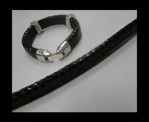 synthetic nappa leather Regaliz-Leather-Snake Style-Black