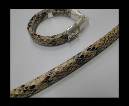 synthetic nappa leather Regaliz Leather-Snake Style-Cream
