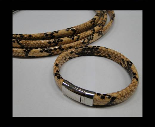Real Regaliz-Leather-Snake Style 1-10mm*6mm-Cream