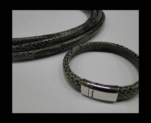 Real Regaliz-Leather-Snake Style 1-10mm*6mm-Grey