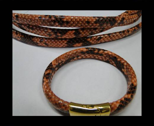 Real Regaliz-Leather-Snake Style 1-10mm*6mm-Orange