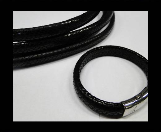 Real Regaliz-Leather-Snake Style 2-10mm*6mm-Black