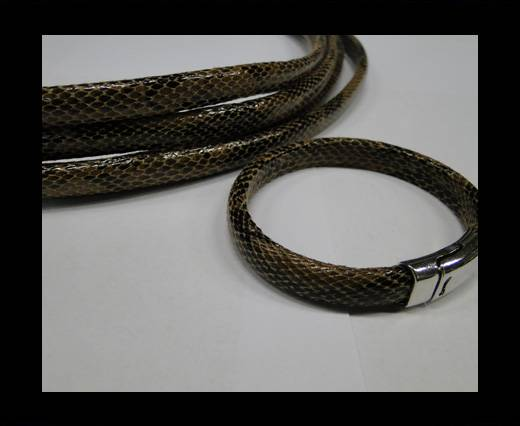 Real Regaliz-Leather-Snake Style 2-10mm*6mm-Brown