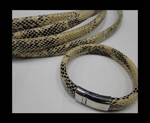 Real Regaliz-Leather-Snake Style 2-10mm*6mm-Cream