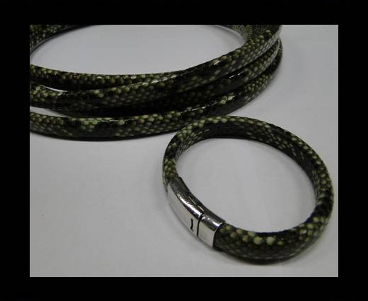 Real Regaliz-Leather-Snake Style 2-10mm*6mm-Green