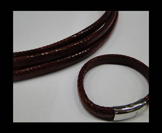 Real Regaliz-Leather-Snake Style 2-10mm*6mm-Red