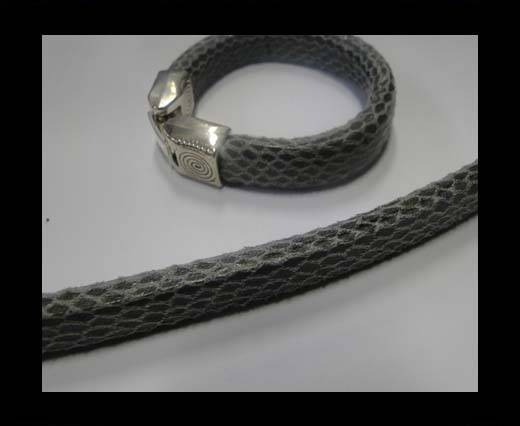 synthetic nappa leather Regaliz Leather-Snake Style-Grey