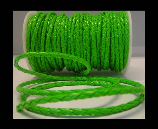 synthetic nappa leather 4mm - Neon Green