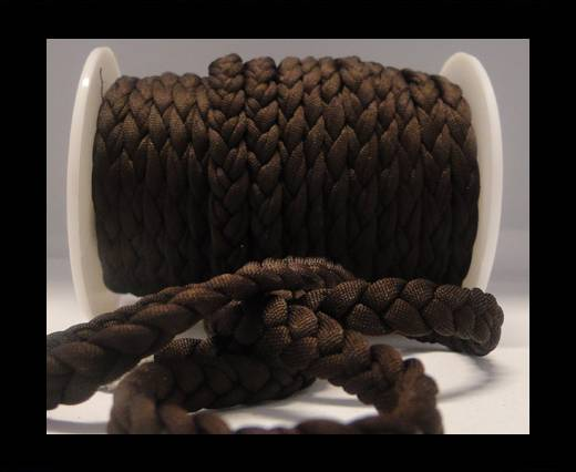 Fabric braided cord-8mm-Coffee