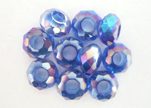 Faceted-Big-Hole-Metalic Blue
