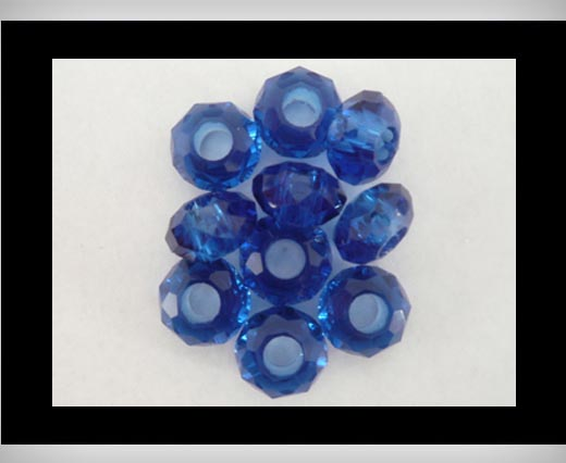 Faceted-Big-Hole-Blue Opal