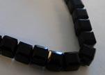 Faceted Cubes-4mm-Black Quartz