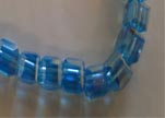 Faceted Cubes-4mm-Turquoise AB