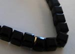 Faceted Cubes-6mm-Black Quartz
