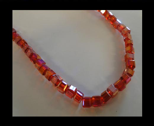 Buy Faceted Cubes-6mm-Granate AB at wholesale prices
