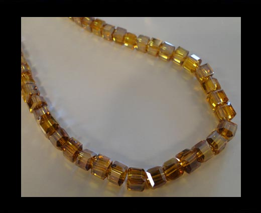 Buy Faceted Cubes-6mm-Mokka AB at wholesale prices