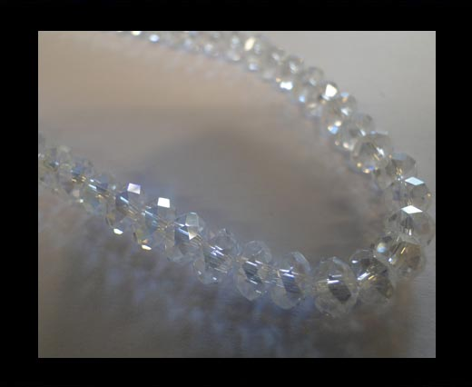 Buy Faceted Cubes-6mm-Crystal AB at wholesale prices
