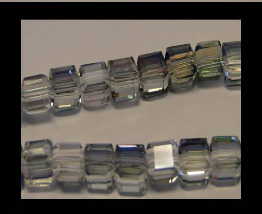 Buy Faceted Cubes-6mm-Half Sea Green at wholesale prices