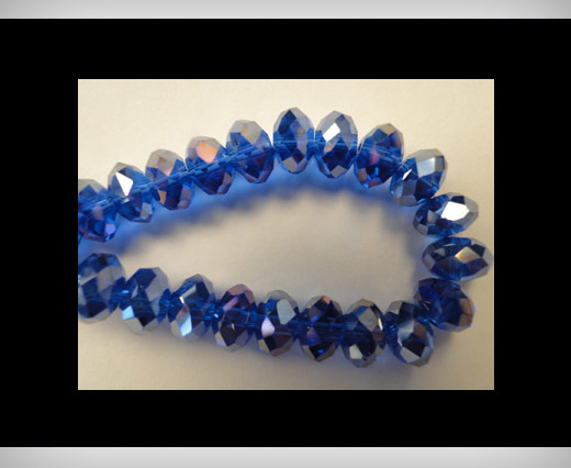 Faceted Glass Beads-4mm-Saphire-AB
