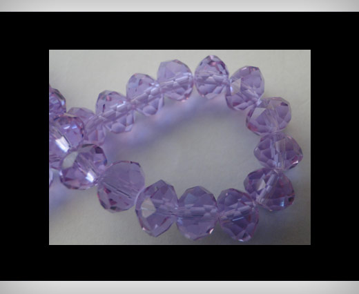 Faceted Glass Beads-6mm-Aqua-Marine