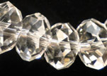 Faceted Glass Beads-6mm-Crystal
