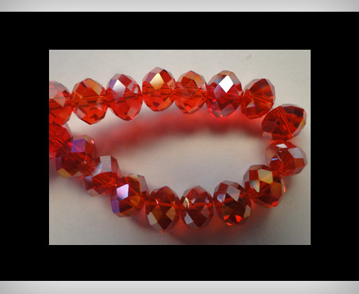 Faceted Glass Beads-6mm-Granate-AB