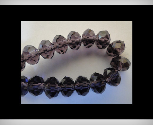 Faceted Glass Beads-8mm-Amethyst