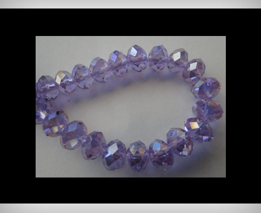 Faceted Glass Beads-8mm-Amethyst-AB