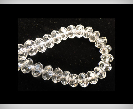 Faceted Glass Beads-8mm-Crystal