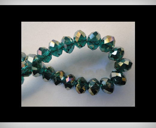 Faceted Glass Beads-8mm-Emerald-AB