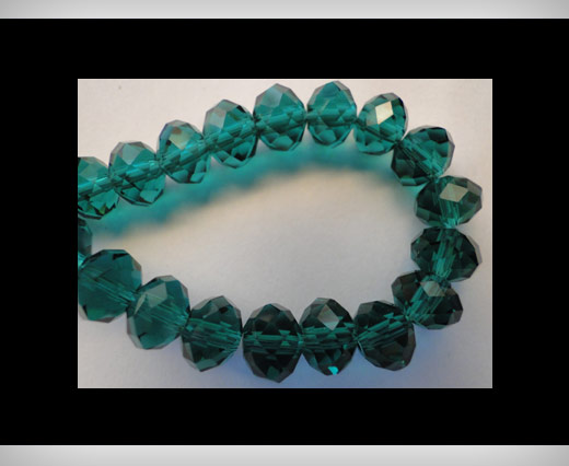 Faceted Glass Beads-8mm-Emerald