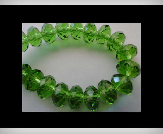 Faceted Glass Beads-8mm-Fern-Green